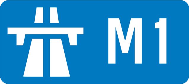 The M1 Motorway joins the South to the North of the Uk